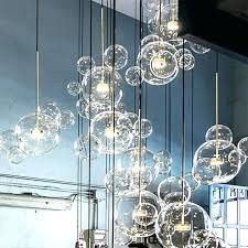 glass bubble light bubble light fixture glass bubble light post modern lamp led pendant clear ball glass bubble light