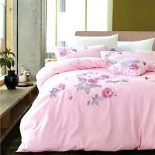pink king bedding sets fresh style satin embroidery bedding sets elegant flowers pattern light pink linens