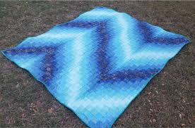 Blue Bargello Quilt Pattern | FaveQuilts.com & Blue Bargello Quilt Pattern Adamdwight.com