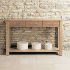 baumhaus mobel oak large 3 drawer console desk baumhaus mobel oak drawer