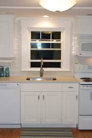 Marble Tile Kitchen Backsplash Kitchen Astonishing Kitchenette With Marble Subway Tiles Also
