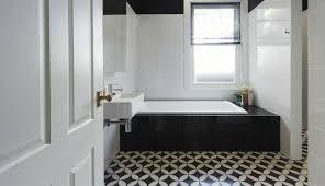 Black And White Patterned Floor Tiles Best Bathrooms With Black And White Patterned Floor Tiles