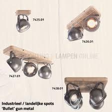 Industriële Plafond Spot 2 Lichts Zwart Gun Metal Kopen