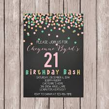 image for 21st birthday invitation es