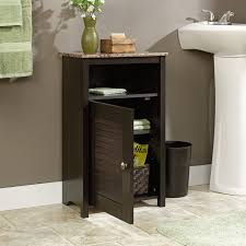 Bathroom Floor Cabinet with Shelf and Faux Granite Top
