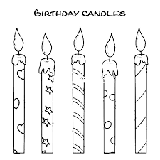 Small Picture How to Draw Birthday Candle Coloring Pages NetArt