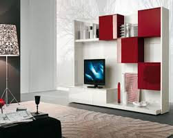 wall unit design and cute red storage ideas also minimalist shelving design for favorite collection of contemporary living room wall unit designs