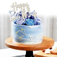 Acrylic Mirror Happy Birthday Gold Silver Birthday Cake Topper