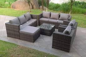 9 seater rattan garden furniture set