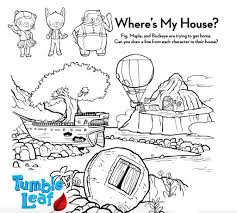 Coloring in is a very beneficial activity for children because it helps to develop their psychomotor skills and the association of ideas and concepts with the real world. Tumble Leaf Coloring Pages Free Printable Coloring Pages For Kids