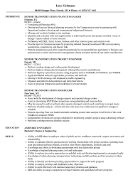 Senior Transportation Resume Samples Velvet Jobs