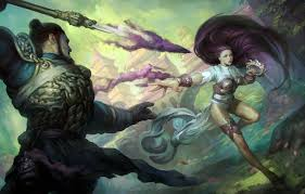 photo wallpaper magic art male spear magic the gathering