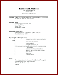 Resume For College Student With No Experience Nmdnconference Com