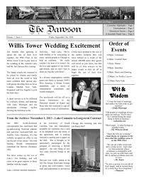 Newspaper Engagement Announcement Templates The Dawson Wedding Program Wedding Engagement Newspaper