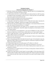 thermodynamics lectures reasoning verification and discussion 12 page 1 of 2 thermodynamics homework assignment