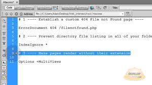 Link to pages without their extension .html .php htaccess tutorial ...