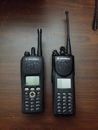 motorola xts. the motorola xts 2500 came with an extra long antenna, i swapped that out a stubby one had laying around and 2400mah lithium ion battery. xts