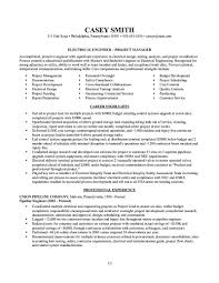 Templates Electrical Engineer Resume Engineering Manager Sample Job