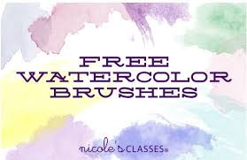 free watercolor brushes illustrator awesome watercolor brushes photoshop addons