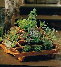 space saving cedar pyramid planter the unique tiered design of our planters allows you to create a flower or herb garden in the smallest of spaces
