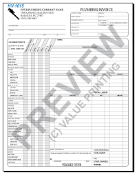 Free Plumbing Invoice Template Interesting HVAC Forms