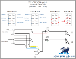 how to wire hydraulic trim tabs using a carling contura illuminated rocker switch free diagram