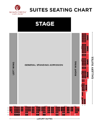 2300 Arena Seating Chart Luxury Seating Wind Creek Event Center Entertainment In