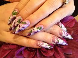 Eye Candy Nails & Training - Acrylic stiletto nails with purple ...