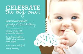 1st Bday Invitation Card Organicteesco