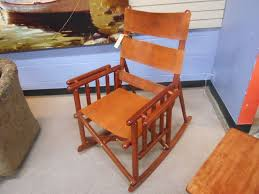 fold up rocker from costa rica featuring leather seat bindings in excellent condition our just 239 00