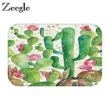original zeegle cactus pattern outdoor rugs flannel doormat home floor mat non slip mat bedroom bathroom