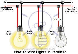how to wire lights in parallel switches bulbs connection in parallel faults in parallel lighting circuits