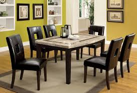 black granite dining room table black dining room table and chairs round dining table for 8