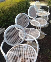 vintage mid century modern patio furniture. Vintage Set 4 Mid Century Modern Patio Chairs Outdoor Metal Mesh  Furniture Vintage Mid Century Modern Patio Furniture T