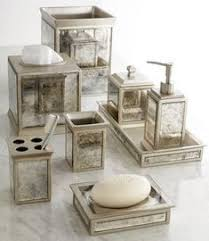 Bathroom decor accessories Vintage Beautifully Coordinated Set Of Bath Accessories The Mirrored Panels And Vintage Look Make For The Countup 123 Best Home Decor Bathroom Vanity Accessories Images Bathroom