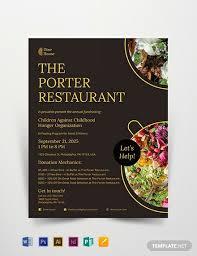 Fish Fry Flyer Microsoft Office 16 Restaurant Fundraising Flyer Designs Templates Psd