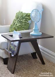 Book Design Side Table I Love Unexpected Design Features Free Plans To Build A Mid