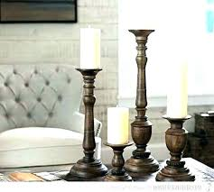 tall wooden candle holders rustic unfinished wood s branch pillar black