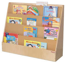 Book Display Stand Wood Book Display Stand daycare furniture Excellent100Kids 2