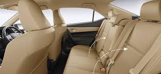 on rear reclining seats
