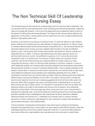 the non technical skill of leadership nursing essay patient  the non technical skill of leadership nursing essay patient safety leadership