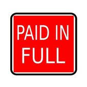 Image result for paid in full stamp