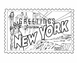 Small Picture New York State Stamp Coloring Page Road Trip Pinterest