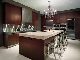 Brown White Modern Kitchen Design Ideas Decorating Using Dark