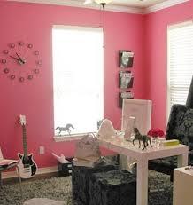 pink home office design idea. Pretty Dazzling Great Home Office Design Idea With Feminine Pink Wall Color I