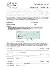 Direct Deposit Setup Form Under Fontanacountryinn Com