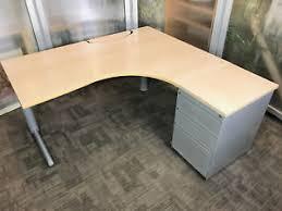 office workstation desks. Image Is Loading L-Shape-Computer-Desk-Radial-Corner-Desks-Curved- Office Workstation Desks D