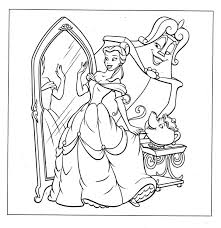 Disney Princess Belle Coloring Pages With Free Printable Belle