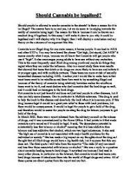 should marijuana be legalized essay conclusion legalizing of marijuana in ohio example essay conclusion