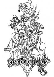 Small Picture Brilliant and Stunning Kingdom Hearts Coloring Pages pertaining to